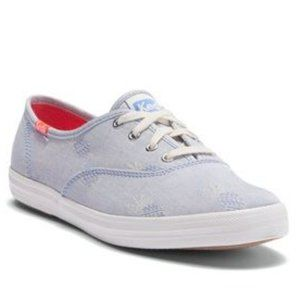 KEDS ortholite pineapple chambray sneakers